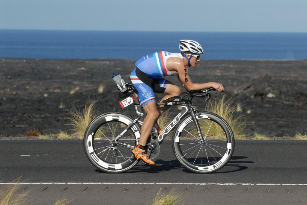 """Out on the Queen K:  After the race, I was told by a few Kona """"veterans"""" that It was the windiest year since 1992."""