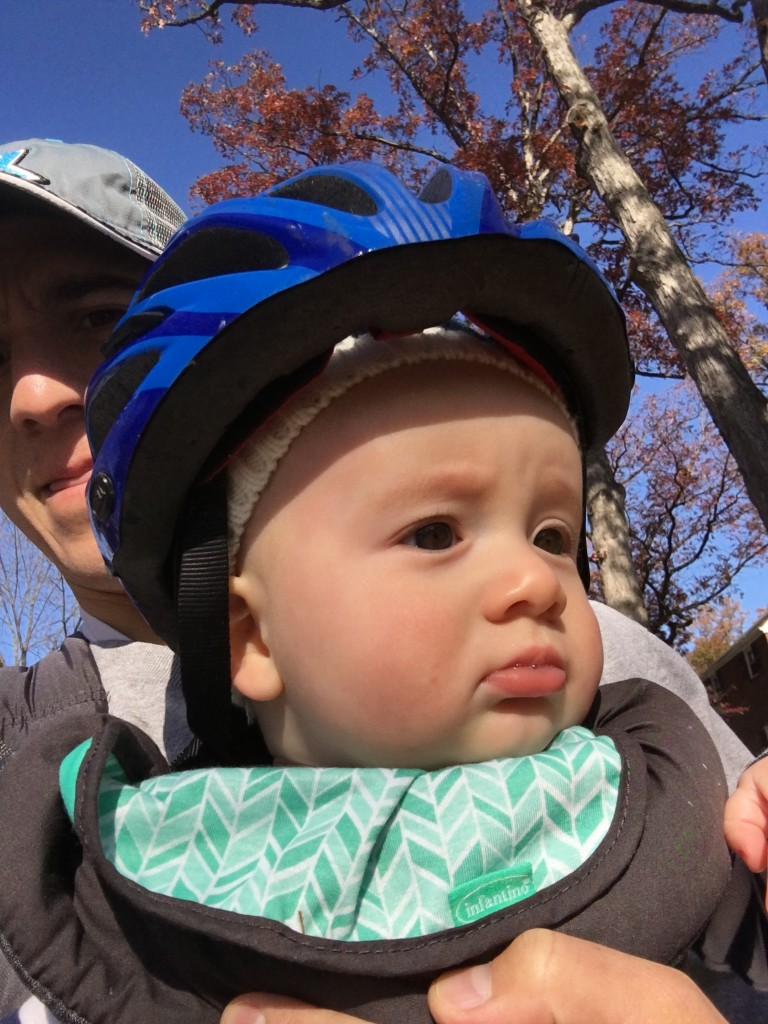 As you can see, Gavin is already pretty serious when he gets a helmet on!